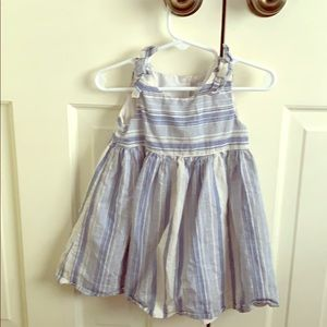 Gap blue and white stripe dress with diaper cover